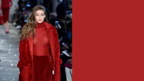 Le rouge, fil conducteur de cet automne 2017 textileaddict