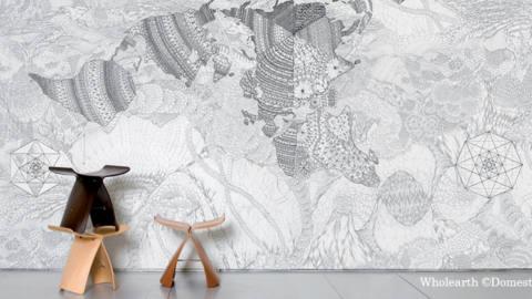 Place a la deco boheme chic - la tendance doodling textile addict