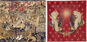 la tapisserie des cerfs ailes dais de charles VII textileaddict