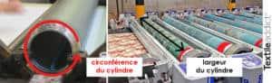 mise au rapport impression au cylindre textileaddict
