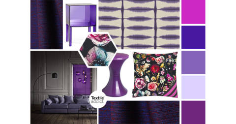 Deco l'ultra violet, la couleur ultra tendance_Textile Addict