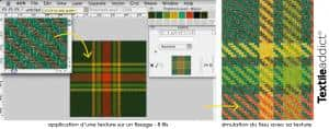 La simulation d'un tissu_Textile Addict