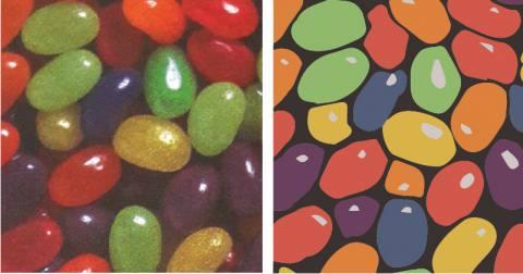 Reduction de couleur et nettoyage d'un motif_Textile Addict