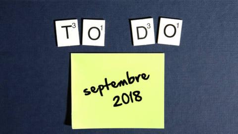 calendrier agenda septembre 2018Textile addict
