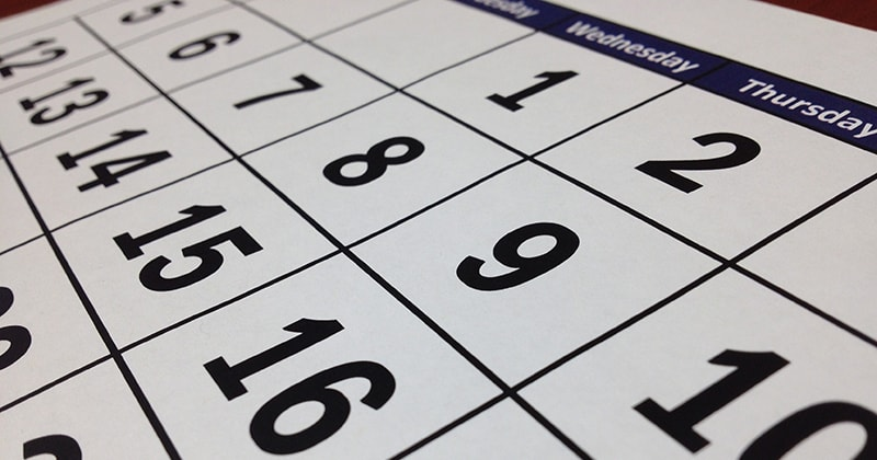 agenda calendrier octobre textile addict