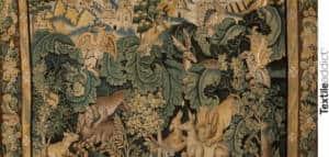 tapisserie aubusson verdure a feuilles de choux_Textile Addict