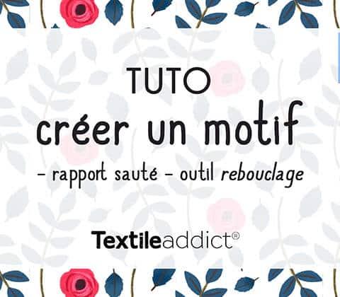 creer un motif rapport saute vertical outil rebouclage photoshop _TextileAddict