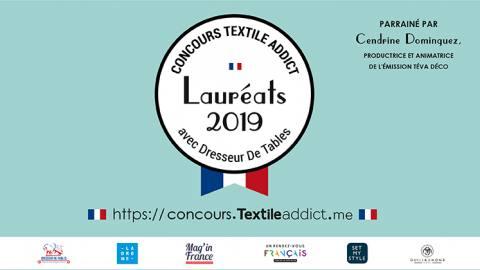 laureat 2019 concours Textile Addict
