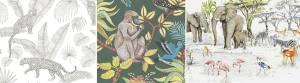 tendance Regne animal papier peint2_TextileAddict