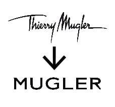 Typographie logo thierry mugler_TextileAddict