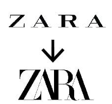 Typographie logo zara_TextileAddict