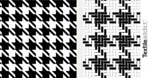 pied de poule motif_TextileAddict