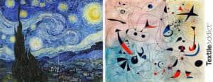 TENDANCE Dans les etoiles Van Gogh miro_TextileAddict
