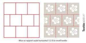 motif mise au rapport saute horizontal un demi_TextileAddict