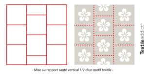 motif mise au rapport saute vertical 1:2_TextileAddict