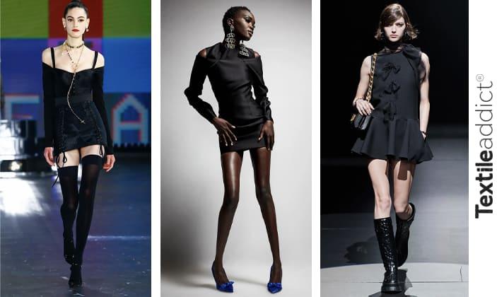 тенденции 2022 FWP черное платье_TextileAddict