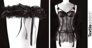 ruban de lingerie jarrteiere guepiere